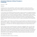 International Statement of Ethical Principles of Fundraising